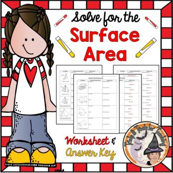 Solve for the Surface Area 3D shapes Nets Geometry Practic