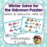 Solve for the Unknown Puzzles - Addition and Subtraction within 20