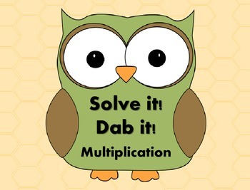 Solve it!  Dab it! Multiplication