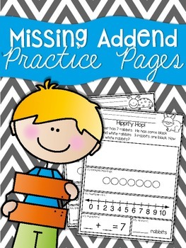 Solve it:  Missing Addends Practice Sheets
