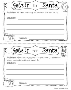 Solve it for Santa - 10 Christmas Writing Prompts