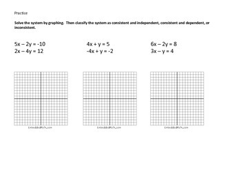Solve linear systems by graphing