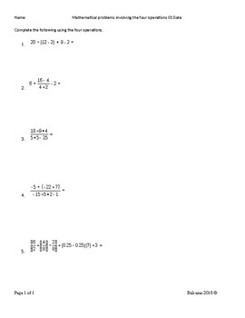 Solve mathematical problems involving the four operations MAFS.7.NS.1.3