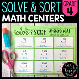 Solve & Sort Math Centers - 4th Grade