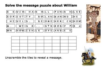 Solve the Message Puzzle about the Harrying of the North