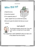 Solve the Mystery Reading Folders
