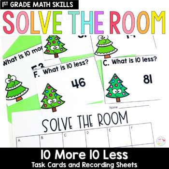 Solve the Room - 10 More/10 Less: A Math Center Task Card Set