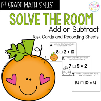 Solve the Room - Add or Subtract? : A Math Center Task Card Set