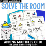 Solve the Room - Adding Multiples of 10: A Math Center Task Card Set