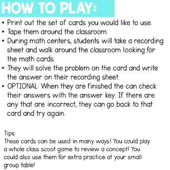 Solve the Room - Balance Equations A Math Center Task Card Set