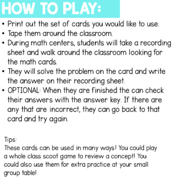 Solve the Room - Base 10: A Math Center Task Card Set