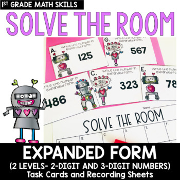 Solve the Room - Expanded Form: A Math Center Task Card Set