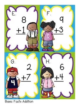 Solve the Room Basic Addition Facts