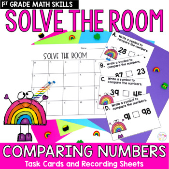 Solve the Room - Comparing Numbers: A Math Center Task Card Set