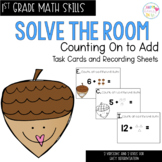 Solve the Room - Count on to Add: A Math Center Task Card Set