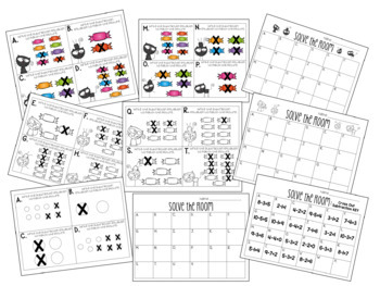 Solve the Room - Cross Out Subtraction: A Math Center Task Card Set