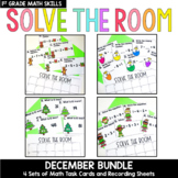 Solve the Room - December BUNDLE : A Collection of 4 Math Center Task Card Sets