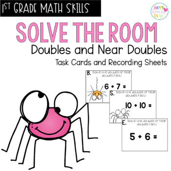 Solve the Room - Doubles and Near Doubles : A Math Center Task Card Set