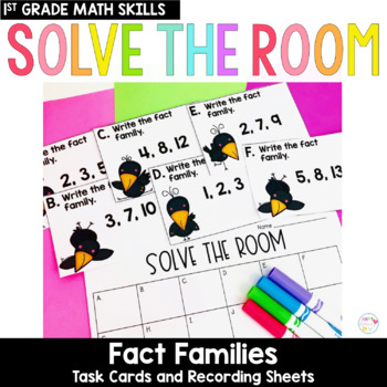Solve the Room - Fact Families : A Math Center Task Card Set