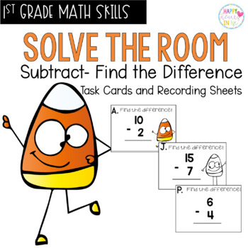 Solve the Room - Find the Difference! A Math Center Task Card Set