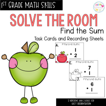 Solve the Room - Find the Sum! A Math Center Task Card Set