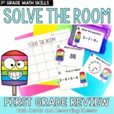 Solve the Room First Grade Skill End of Year Review: A Mat