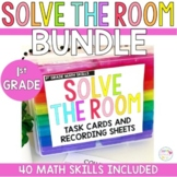 Solve the Room First Grade Yearlong MEGA Bundle- Math Center Task Cards