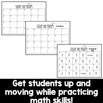 Solve the Room - Fractions: Halves, Thirds, Fourths: A Math Center Task Card Set