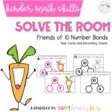 Solve the Room-  Friends of 10 Number Bonds  - A Kindergarten Math Task Card Set