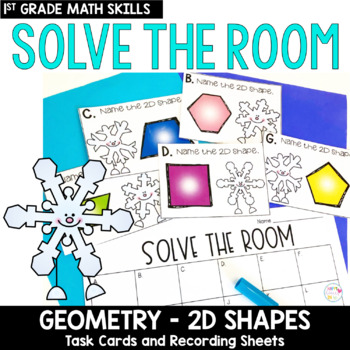 Solve the Room - Geometry 2D Shapes: A Math Center Task Card Set