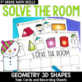 Solve the Room - Geometry 3D Shapes: A Math Center Task Card Set