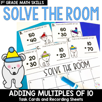 Solve the Room - January BUNDLE : A Collection of 4 Math Center Task Card Sets