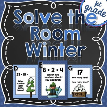 Solve the Room {January} First Grade
