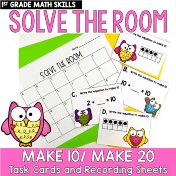 Solve the Room - Make 10 or 20: A Math Center Task Card Set