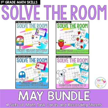 Solve the Room - May BUNDLE : A Collection of 4 Math Center Task Card Sets