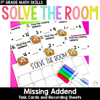 Solve the Room - Missing Addends: A Math Center Task Card Set