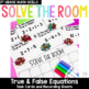 Solve the Room - November BUNDLE : A Collection of 4 Math Center Task Card Sets