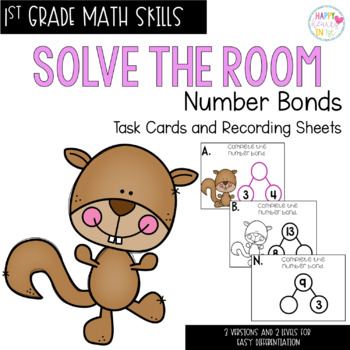 Solve the Room - Number Bonds: A Math Center Task Card Set