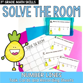 Solve the Room- Number Lines to 50 - A Math Center Task Card Set