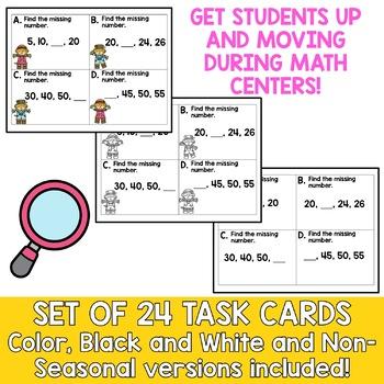 Solve the Room - Number Patterns: A Math Center Task Card Set