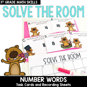 Solve the Room - Number Words: A Math Center Task Card Set