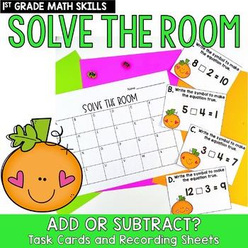 Solve the Room - October BUNDLE : A Collection of 4 Math Center Task Card Sets