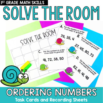 Solve the Room - Ordering Numbers: A Math Center Task Card Set