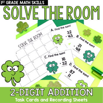 Solve the Room - 2-Digit Addition: A Math Center Task Card Set