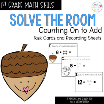 Solve the Room - September BUNDLE : A Collection of 4 Math Center Task Card Sets