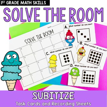 Solve the Room- Subitizing: A Math Center Task Card Set
