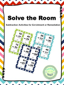 Solve the Room - Subtraction with and without regrouping