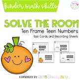 Solve the Room- Ten Frame Teen Numbers- A Kindergarten Mat
