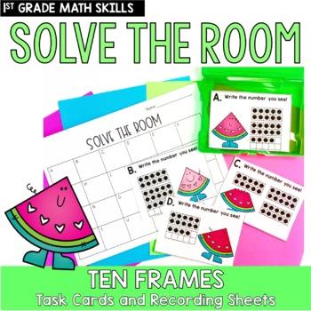 Solve the Room - Ten Frames: A Math Center Task Card Set