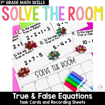 Solve the Room - True or False Equations: A Math Center Task Card Set